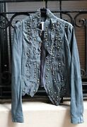 Givenchy Runway Leather Jacket With Crystals New W/tags Size Fr 40 Us 8 6000