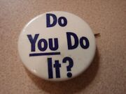 Original 1950s Acme Beer Breweries Do You Do It Celluloid Button-s.f. Cal.
