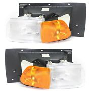 Halogen Headlight Set For 1999-2010 Sterling A Left And Right W/ Bulbs Pair