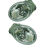 Headlight Set For 2002 2003 2004 Volkswagen Beetle Left And Right With Bulb 2pc