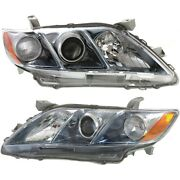 Headlight Set For 2007-2009 Toyota Camry Hybrid Japan Built Left And Right 2pc