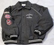 Chicago White Sox 3-time Champions Wool Jacket Button Up Grey