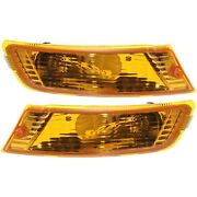 Turn Signal Light For 2005-2007 Jeep Liberty Plastic Lens Lh And Rh Set Of 2 Capa
