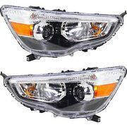 Headlight Set For 2011-2018 Mitsubishi Outlander Sport Left And Right Capa 2pc