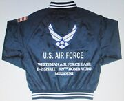 Whiteman Air Force Base B-2 509th Bomb Wing-mo Embroidered 2-sided Satin Jacket