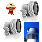 Pool Hose Conversion Type B Adapter For Pump Saltwater System 1.25 To 1.5 2 Pc