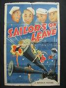 Sailors On Leave-shirley Ross-27x41-orig Poster Fr