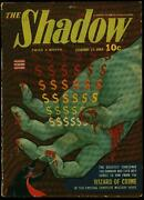 The Shadow Pulp February 15 1943- Wizard Of Crime- Bloody Hand Cover Fn