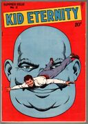 Kid Eternity 2-1946-classic Cover-abe Lincoln-golden Age Comic-vf Vf