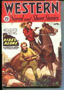 Western Novels And Short Stories 04/1935-mesquite Jenkins-c E Mulford-vf