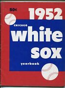 Chicago White Sox Baseball Yearbook-1952-stats-info-player Photos-fn+