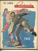 St. Louis Cardinals Baseball Yearbook-1952-stats-info-photos-fn/vf
