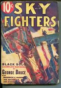 Sky Fighters 01/1933-air War Pulps-wwi-3rd Issue-black Solo-george Bruce-vg-