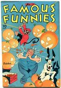 Famous Funnies 135 1945-chief Wahoo-buck Rogers- Halloween Cover Vf-