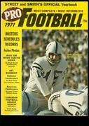 Street And Smith Pro-football Yearbook 1971 Morrall Nfl Vf/nm
