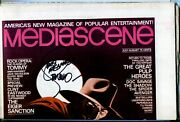 Mediascene 17 1/1976-signed By Steranko Shadow Cover-proof Copy-unopened-vf+