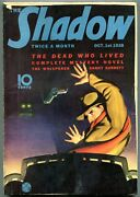 The Shadow Pulp October 1 1938- Dead Who Lived- Vg