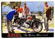 Ariel Motorcycle Sales Brochure From England 1940 - Super Rare