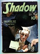 Shadow Sept 1 1939 Pulp Magazine The Crime Ray Street And Smith Fn-