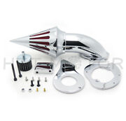 Spike Air Intake Cleaner Kit Filter For Honda Shadow 600 Vlx600 And03999-and03912 Chrome