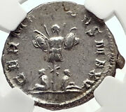 Gallienus Authentic Ancient Silver 257ad Roman Coin W Germany Trophy Ngc I70144