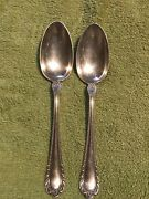 Gorham 1896 Winthrop Mermod Jaccard Electroplate Silver Table Serving Spoons 8.5