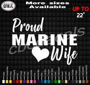 Proud Marine Wife Decal Sticker Marine Wife Vinyl Decal Stickers Military Wife