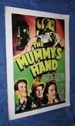The Mummy's Hand Universal Studios Theme Park Ride Prop Poster Monsters/movie