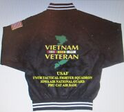 174th Tactical Fighter Squadron Vietnamphu Cat Air Base 2-sided Satin Jacket
