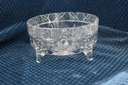 Cut And Pressed Glass Footed Fruit Bowl