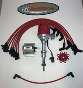 Small Cap Ford 5.0l 302 Efi To Carb Conv Hei Distributor Red + 60k Coil + Wires