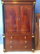 Baker English Regency Mahogany Bedroom Armoire