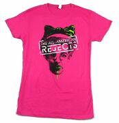 All American Rejects Green Bow Girls Juniors Hot Pink T Shirt New Official