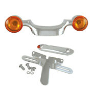 Chrome Bullet Turn Signal Bar And Plate Relocation Kit 1998-2008 Harley Touring
