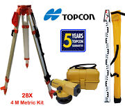 Topcon At-b3a 28x Automatic Level With Tripod And 4 Meter Aluminum Rod