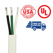10/3 Awg Triplex Flat Ac Marine Wire 100 Ft. Black/white/green Made In The Usa