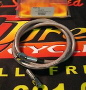 Midwest 46 Stainless Steel 3 Universal Brake Line For Harley And Customs