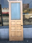 Interior Pantry Door 94 X 32 Etched Frosted Glass And Wood Beyoncé And Jay Z