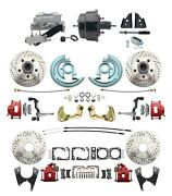 1964-72 A-body All Wheel Performance Disc Brake Conversion Kit W/ Red Calipers