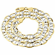 Real 10k Yellow Gold Diamond Cut Solid Mariner Chain 8.9mm Necklace 22-30 Inches