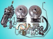1965-1968 Chevrolet Power Front Disc Brake Conversion Chrome And Tubular A Arms
