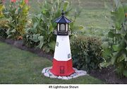 Amish-made Replica Vermillion Oh Lighthouses With Solar-powered Led Lighting