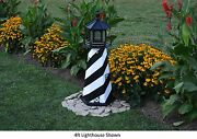 Amish-made Replica Cape Hatteras Nc Lighthouses With Solar-powered Led Lighting