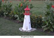 Amish-made Replica Cape May, Nj Lighthouses With Solar-powered Led Lighting