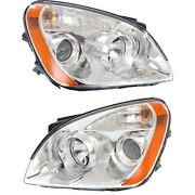 Headlight Set For 2007-2008 Kia Rondo Left And Right With Bulb 2pc