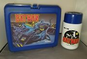 Batman Vintage 1991 Thermos Brand Lunchbox With Thermos