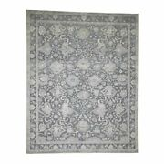 8and0391x10and039 Hand-knotted Oushak Influence Silk Textured Wool Oriental Rug R41656