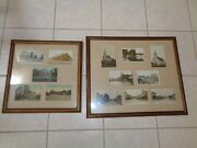 Antique Rare Wisconsin Postcards Lot Of 13 Framed Rppc And Linen Depot Flood