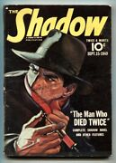 The Shadow Pulp Sep 15 1940- Needle Cover- Great Cover Vg+