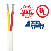 8/2 Awg Duplex Flat Dc Marine Wire - 50 Feet - Red/yellow - Made In The Usa